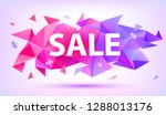 vector sale facet crystal... | Shutterstock .eps vector #1288013176