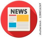 vector media icon newspaper... | Shutterstock .eps vector #1288016269