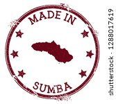 made in sumba stamp. grunge... | Shutterstock .eps vector #1288017619