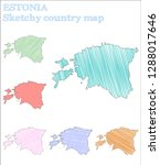estonia sketchy country. fair... | Shutterstock .eps vector #1288017646