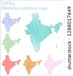 india sketchy country. likable... | Shutterstock .eps vector #1288017649