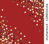 stars confetti diagonal border. ... | Shutterstock .eps vector #1288026166