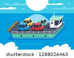 isometric 3d barge carrying... | Shutterstock .eps vector #1288026463