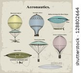 vector set vintage hot air... | Shutterstock .eps vector #128802664