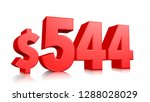 544  five hundred forty four... | Shutterstock . vector #1288028029