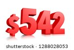 542  five hundred forty two... | Shutterstock . vector #1288028053