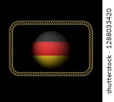 gold button with germany flag...   Shutterstock .eps vector #1288033420