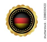 gold button with germany flag...   Shutterstock .eps vector #1288033423