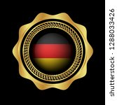 gold button with germany flag...   Shutterstock .eps vector #1288033426