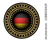 gold button with germany flag...   Shutterstock .eps vector #1288033429