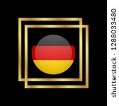 gold button with germany flag...   Shutterstock .eps vector #1288033480