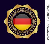gold button with germany flag...   Shutterstock .eps vector #1288033483