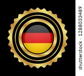 gold button with germany flag...   Shutterstock .eps vector #1288033489