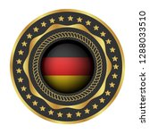 gold button with germany flag...   Shutterstock .eps vector #1288033510
