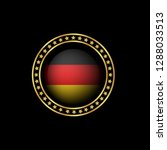 gold button with germany flag...   Shutterstock .eps vector #1288033513