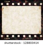 Blank Old Grunge Film Strip...