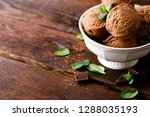 chocolate ice cream | Shutterstock . vector #1288035193