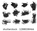 black ink grunge brush set... | Shutterstock . vector #1288038466