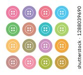 pastel colored clothes buttons   Shutterstock .eps vector #1288039690