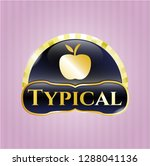 gold emblem with apple icon... | Shutterstock .eps vector #1288041136