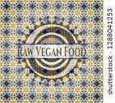 raw vegan food arabesque style... | Shutterstock .eps vector #1288041253