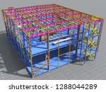 building information model of... | Shutterstock . vector #1288044289