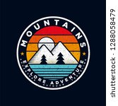badge mountain logo design... | Shutterstock .eps vector #1288058479