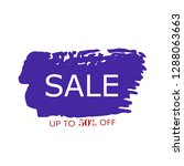 sale 50  off sign over art blue ... | Shutterstock .eps vector #1288063663