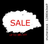 sale 50  off sign over art... | Shutterstock .eps vector #1288063669
