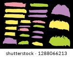 collection of hand drawn... | Shutterstock .eps vector #1288066213