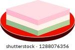 three color diamond shaped rice ... | Shutterstock .eps vector #1288076356