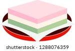 three color diamond shaped rice ... | Shutterstock .eps vector #1288076359