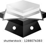 monochrome gradation three... | Shutterstock .eps vector #1288076383