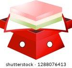 gradation three color diamond... | Shutterstock .eps vector #1288076413