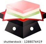 gradation three color diamond... | Shutterstock .eps vector #1288076419