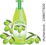 olive juice bottle.illustration ... | Shutterstock .eps vector #1288077820