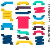 set of colorful ribbons and... | Shutterstock .eps vector #1288083883