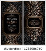 wedding invitation card with... | Shutterstock .eps vector #1288086760