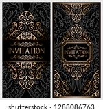 wedding invitation card with... | Shutterstock .eps vector #1288086763
