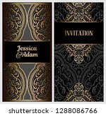 black and gold luxury wedding... | Shutterstock .eps vector #1288086766