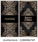 black and gold luxury wedding... | Shutterstock .eps vector #1288086769