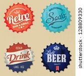 retro bottle cap design  ... | Shutterstock .eps vector #128809330