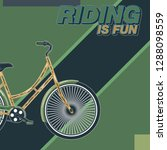 cycling poster design template... | Shutterstock .eps vector #1288098559