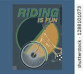 bicycle advertising poster... | Shutterstock .eps vector #1288101073