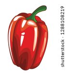 pepper isolated icon | Shutterstock .eps vector #1288108219