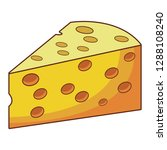 cheese isolated icon | Shutterstock .eps vector #1288108240