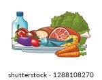 healthy food design | Shutterstock .eps vector #1288108270