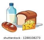 milk with bread | Shutterstock .eps vector #1288108273