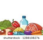 healthy food design | Shutterstock .eps vector #1288108276