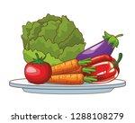 healthy food design | Shutterstock .eps vector #1288108279
